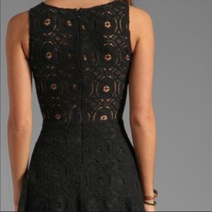 Nordstrom BB Dakota Renley Lace Fit & Flare Dress
